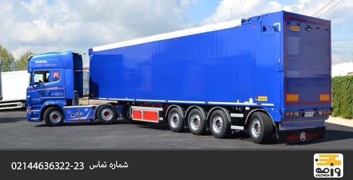 ابعاد کامیون باربری