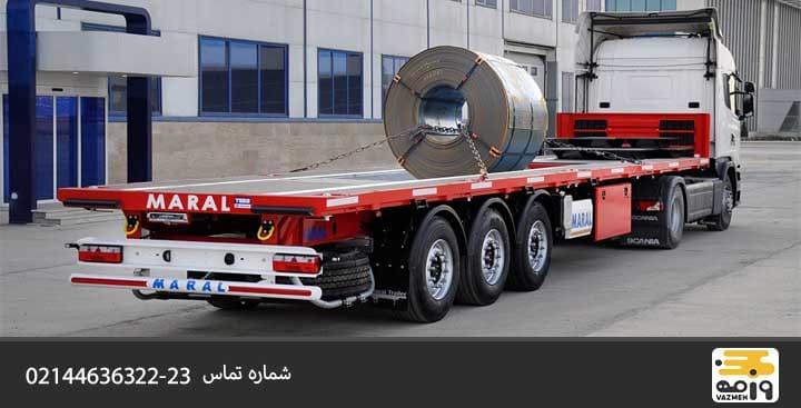 کامیون کفی دار از انواع کامیون باربری