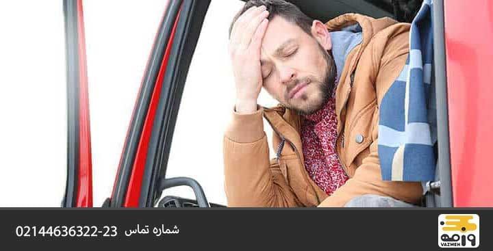 استراحت کافی از نکات رانندگی با کامیون